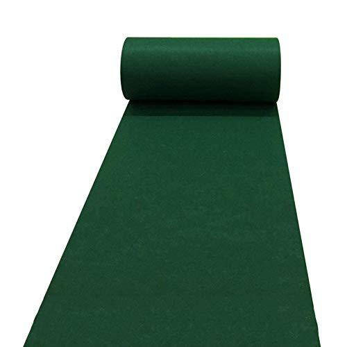 SYJH Coureurs D'allée pour Mariages Moquette Verte Jetable de 2 Mm épais pour événement Tapis de Coureur en Polyester pour Intérieur Extérieur Extérieur(Size:1.2×10m(4×33ft),Color:Vert)