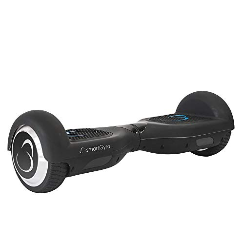 SMARTGYRO X2 v.3.0 Black Patinete Eléctrico Hoverboard, Antipinchazos, Batería de Litio 4400 mAh, Velocidad Máxima 12 Km/h, Certificado UL, Unisex Niños, Negro, 6.5 Pulgadas