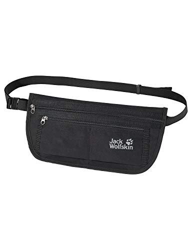 Jack Wolfskin Unisex– Erwachsene Document Belt De Luxe Hüfttasche, black, One Size