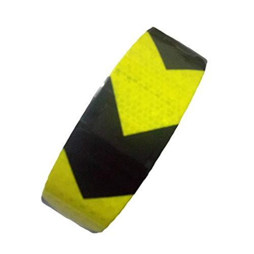 Republe 5cmx3m Car Self-Adhesive Reflektierende Sicherheitswarnband Automobil Motorrad Pfeilzeichen Reflektor-Streifen Sticker