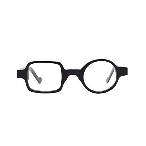 Liansan Fashion Acetate Asymmetric Innovative Optical Eyewear for Men and Women Glasses Black