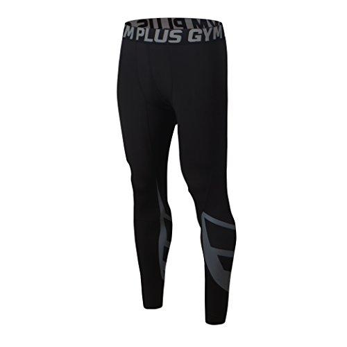 FELiCON GYM Herr löpning sport cykelbyxor män herr kompression tights bär träningskläder snabbtorkande andas bekväma leggings bas elit fitnessbyxor termisk Grå 103-grå L