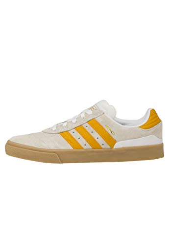adidas Skateboarding Busenitz Vulc, Footwear White-Tactical Yellow-Gum, 10,5