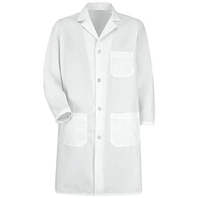Red Kap Men's Exterior Pocket Lab Coat, White, Medium