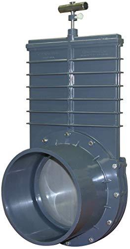 Valterra vanne Guillotine en Acier Inoxydable, 2 x Manchons Ø 110 mm (Curseur en Acier Inoxydable) Ø 110 mm (Edelstahl Schieber) Gris
