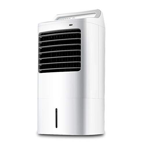 GYF Aire Acondicionado,Aire Acondicionado Portatil Silencioso Ventilador De Aire Acondicionado,Climatizador Evaporativos,3 Niveles De Potencia, Función Temporizador, Blanco 38X73.6CM