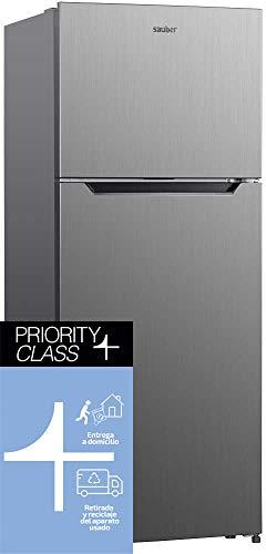 Sauber - Frigorífico Dos Puertas SERIE 5-177I Tecnología NOFROST - Eficiencia energética: A+ - 177x70cm - Acero inoxidable