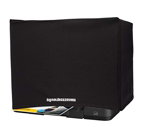 DigitalDeckCovers Printer Dust Cover & Protector for Epson Workforce ET-3750 / ET-4750 / ET-4760 /Expression ET-2750 / ET-2760 Printers [Antistatic, Water Resistant, Heavy Duty Fabric, Black]