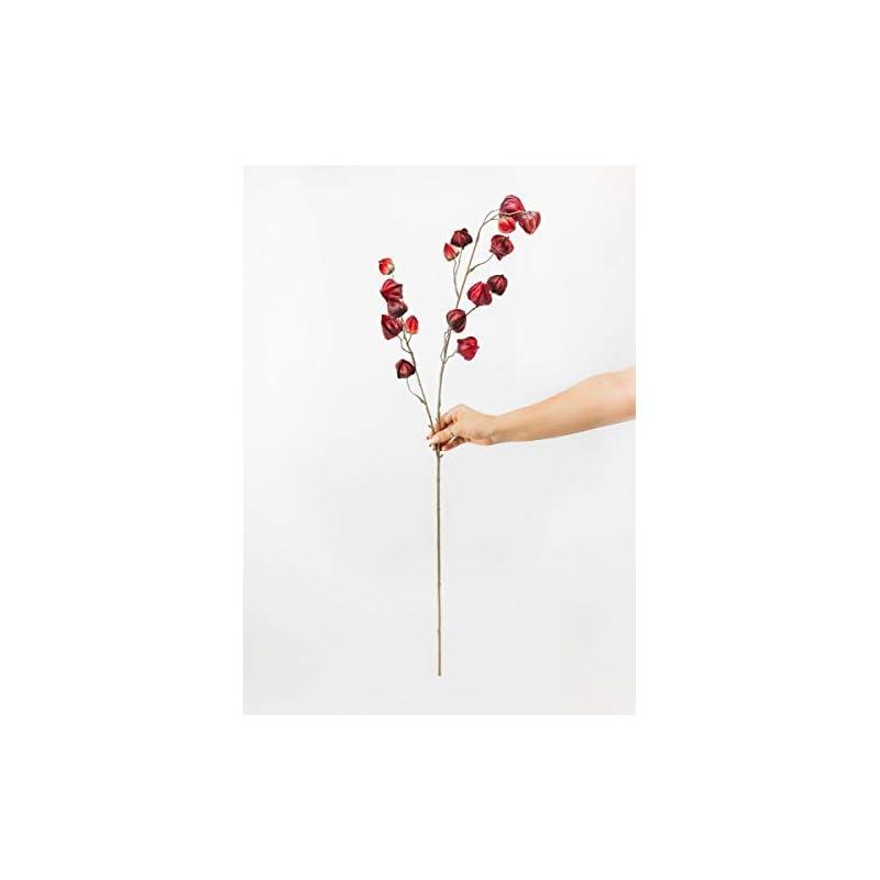 """silk flower arrangements fall burgundy artificial chinese lantern flowers - 41"""""""