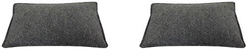 Filz-Kult Sitzkissen für Bierzeltgarnitur, grau-meliert, 2 Stück, Bierbank-Auflage, Filz-Kissen, Bank-Polster, schlicht und edel, Sitzunterlage, Bierbankkissen, Festzeltauflagen