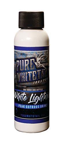 Pure Whitetail White Lightning Peak Estrous Urine- Fresh 100% Pure Mock Scrape Attractant and Peak Estrous Urine from One Individual Doe During Peak Estrous Cycle (2 oz)