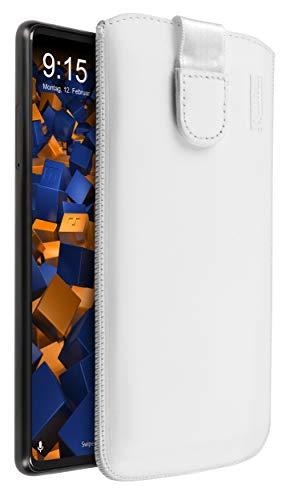 mumbi Echt Ledertasche kompatibel mit Xiaomi Mi Mix 2 Hülle Leder Tasche Hülle Wallet, Weiss