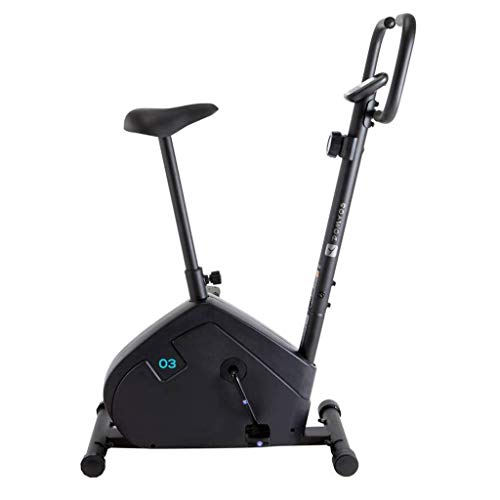 WEI-LUONG Plegable Bicicleta Exercise Home Fitness Stepping Bike Boys and Girls Exercise Bike Fashion Indoor Mute Fitness Machy Gym Stepper (Color: Negro) Plegable