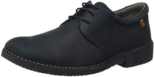 El Naturalista Yugen, Zapatos de Cordones Derby Hombre, Negro (Black Black), 45 EU