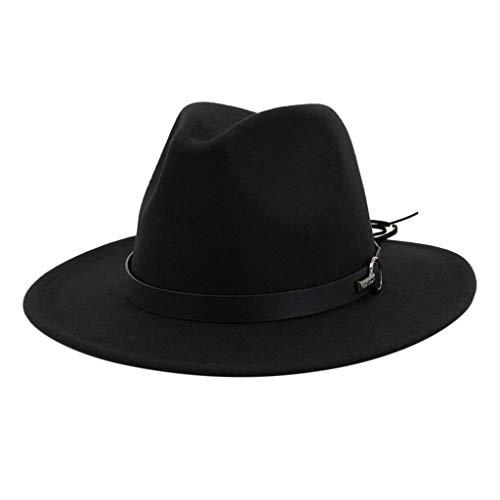 SEEGOU Damen Herren Unisex Gute Qualität Hüte mit Gürtel Festival Mützen Frühling Winter Hochzeit Prom Caps