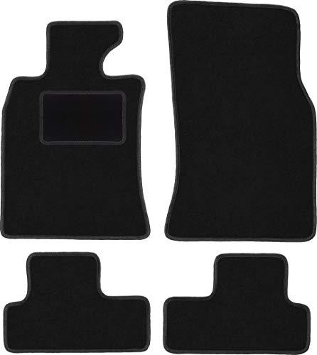Wielganizator Carlux Lot de 4 tapis en velours pour Mini Cooper R56 Hatchback 2006-2013 Noir