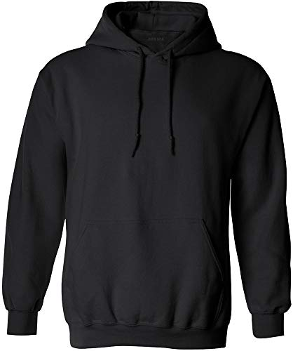 Joe's USA - Big Mens Size Four Extra Large Hoodie Sweatshirts-4XL in Black