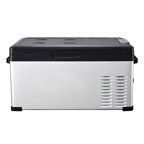 TUNBG draagbare koelkast, elektrisch aangedreven mini-koelkast met vriesvak, voor gebruik buitenshuis en thuisgebruik (maat: 40 l)