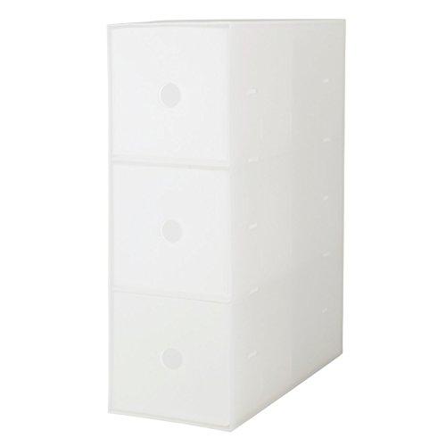 無印良品 ポリプロピレン小物収納ボックス3段・A4タテ 約幅11×奥行24.5×高さ32cm