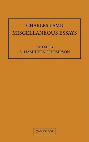 Compare Textbook Prices for Miscellaneous Essays Lamb Miscellaneous Essays; Pitt Press 1 Edition ISBN 9780521100885 by Lamb, Charles