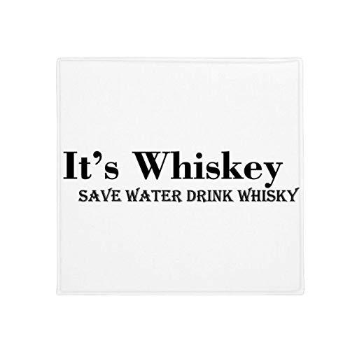 It 's Whiskey Save Water Drink Whiskey Anti-Rutsch Boden Pet Matte quadratisch Badezimmer Wohnzimmer Küche Tür 60/50cm Geschenk, Gesponnenes Polyester, mehrfarbig, 50X50cm