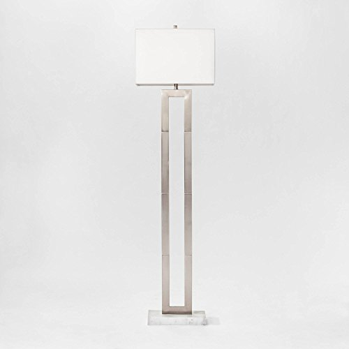 Weston Window Pane Floor Lamp Nickel (Includes CFL Light Bulb) - Project 62™