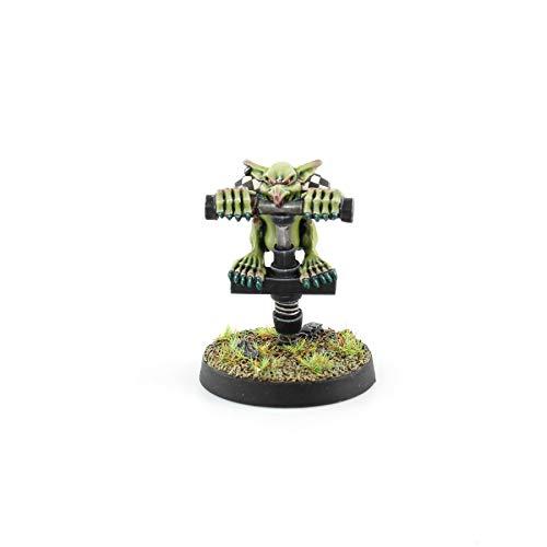 War World Gaming Gutrot Greenskins - Jugador Especial Goblin con Pogo Stick - 28mm Escala Fútbol Fantástico Miniaturas Figuras Blood Bowl Coleccionismo Minis