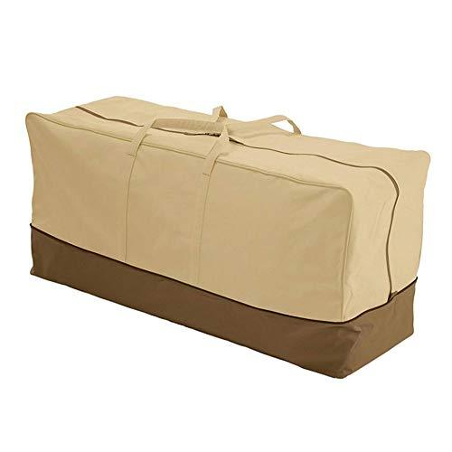 Uranbee Gartenauflagen Schutzhülle 600D Extra Dicke Tragetasche für Gartenpolster Auflagen 152x71x51 cm Groß Aufbewahrung Tasche mit Griffen Aufbewahrungsbeutel