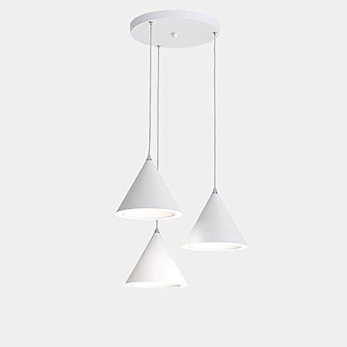 GLJXG Plafonnier Lustre créatif en Forme de Diamant/Circulaire pour Salon/Chambre à Coucher/Bar/étude, Couleur: Noir, Blanc Lumière pendante (Couleur : H)