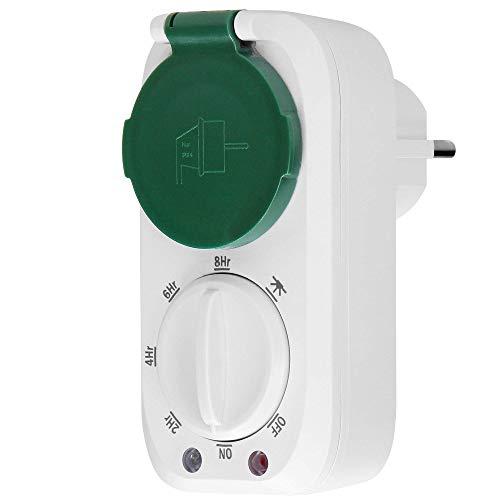 ORNO PRE-446(GS) Zeitschaltuhr Aussenbereich mit Dämmerungssensor, Schuko, 16A / 230A, IP44