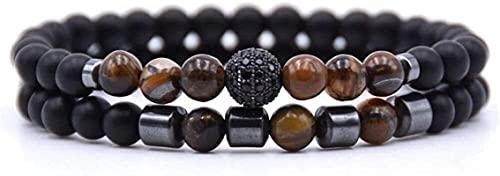 Pulseras con cuentas de piedras preciosas premium Pulsera de piedra Mujer, 7 chakra natural tigre ojo piedra brazalete brazalete elástico yoga energía afortunado pulsera moda encanta joyería para dama