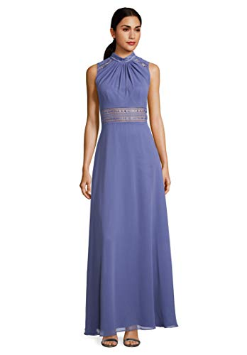 Vera Mont VM Damen 0104/4825 Partykleid, Blau (Gray Blue 8135), (Herstellergröße: 32)