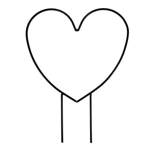 Cabilock Garten Pflanzenstütze Herz Kranz Kletterpflanzen Rankhilfe Eisen Staudenhalter Blumenstütze Pflanzen Rankgitter Blumenhalter Blumenkranz für Topfpflanzen Zimmerpflanzen Rebe Rose Tomaten