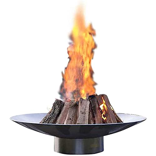 Garden Fire Pit, Outdoor Large Stainless Steel Fire Pit Log Burner Never Rust Fire Pit Perfect for Garden, Patio, Camping & Alfresco all Year Around,120cm(47inch)