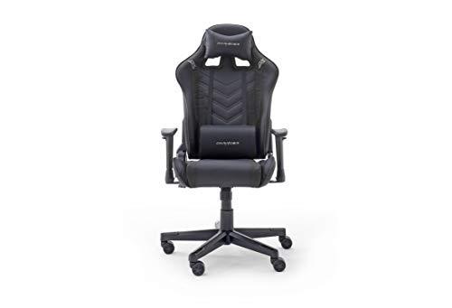 Robas Lund DX Racer Sport OK 132 Gaming Stuhl Bürostuhl Schreibtischstuhl mit Wippfunktion Gamer Stuhl Höhenverstellbarer Drehstuhl PC Stuhl Ergonomischer Chefsessel, schwarz