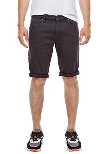 s.Oliver Herren Regular Fit: Coloured Bermuda dark grey 34