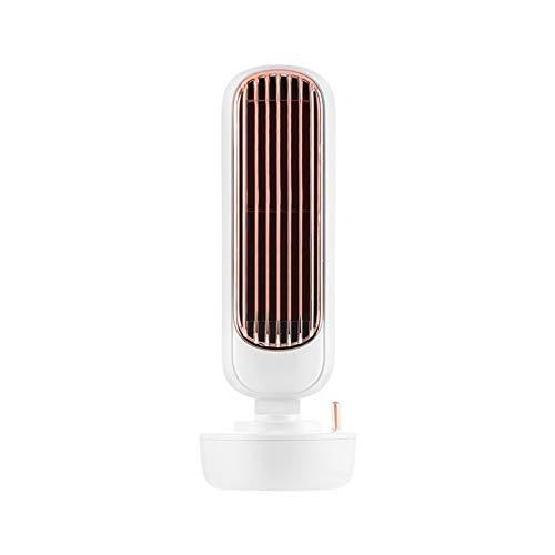 AKEFG Ventilador de Aire Acondicionado portátil, Ventilador de Torre sin aspas 2 en 1 con función de enfriamiento, Temporizador de 12 Horas, para el Dormitorio de la Oficina en el hogar al Aire Libre