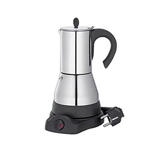 MING-MCZ cafetera de Prensa Francesa Moka eléctrica Duradera, máquina de café eléctrica de Gran Capacidad, Accesorios para café para el hogar Cafe 200ml cafeteras de Camping (Color : Silver Black)