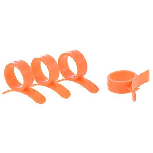 Sonline Set of 4 Round Orange Peelers, a Simple and Practical Way to Peel...
