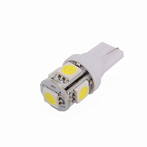 Qiilu ampoules led pour tableau de bord 10 pcs 5SMD 5050 Chipset LED Voiture Ampoules Blanc