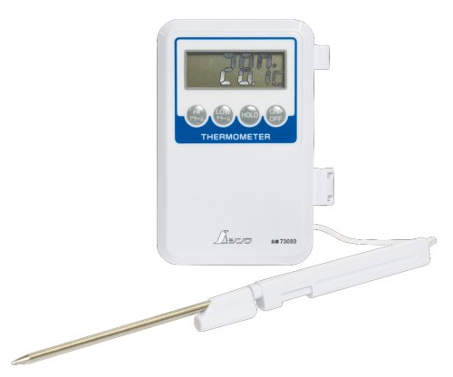 シンワ測定(Shinwa Sokutei) デジタル温度計H-1 隔測式プロープ 防水型 73080
