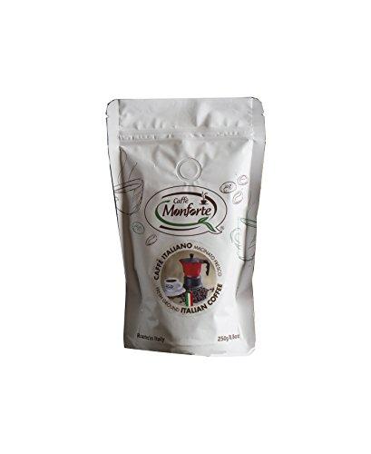 Caffè Monforte Fresh Ground Italian Coffee,(2 x 250 g)