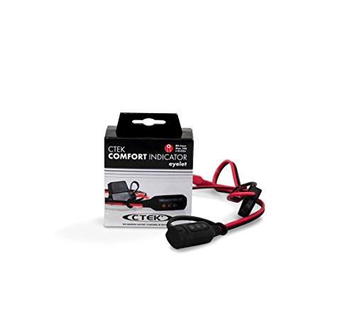 CTEK CTE- 56-382 Comfort Indicator with 8mm Eyelet Adaptors - Red/black