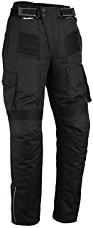 Bikers Gear Australia Men's Cargo Style Waterproof Textile Pants with Removable CE Armour Black