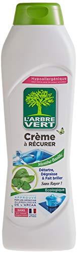 L'arbre vert Crème à Récurer Écologique pour Surfaces Lavables Menthe/Basilic