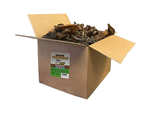 Natural Brown Cow Ears (100 Count Box) - Cow Ears Dog Treats - Best Cow Ear Dog Chews - Safe Rawhide Alternative - Cow Ears for Dogs