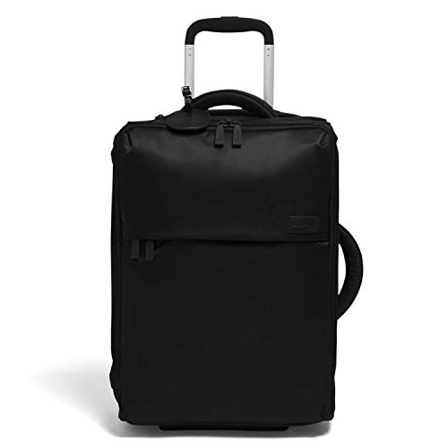 Lipault - 0% Pliable Foldable Upright 55/20 Luggage - Carry-On Rolling Bag for Women - Black