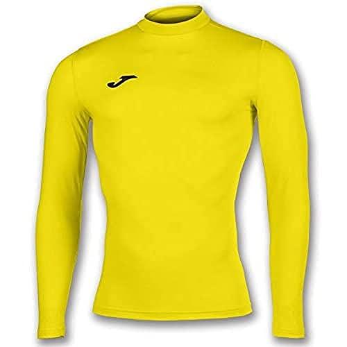 Joma Academy Camiseta Termica, Hombre, Amarillo, S-M