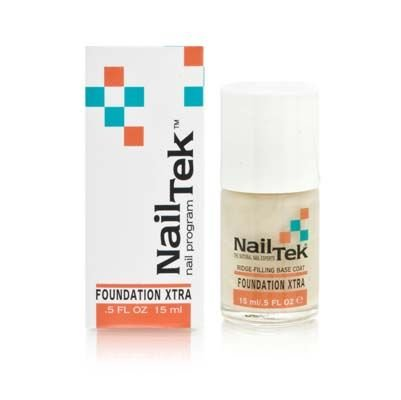 Nail Tek Ridge-Filling Strengthening Base Coats Foundation Xtra 4 For Weak, Damaged Nails