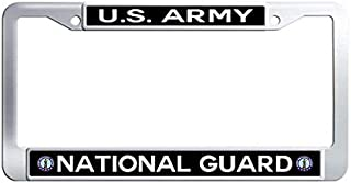 US Army National Guard License Plate Frame,Stainless Steel License Tag Holder